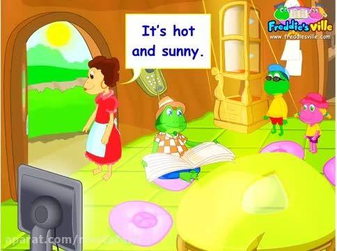 آموزش زبان انگلیسی به کودکان (آب و هوا) 3