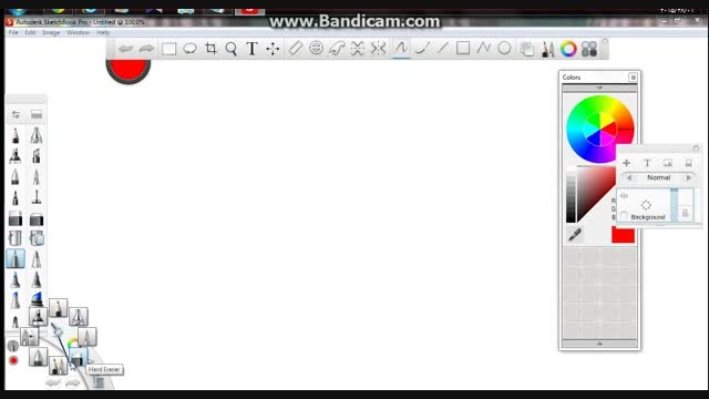 محیط نرم افزار  SketchBook Pro 6.2.4