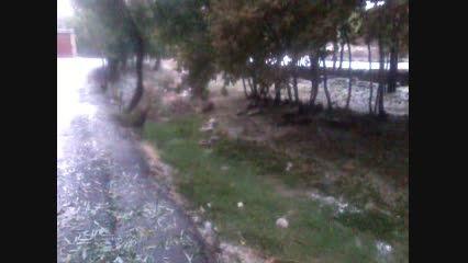 لحظه جاری شدن سیل در روستای لایبید