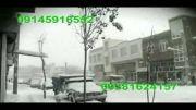 بارش شدید برف کولاک در اردبیل