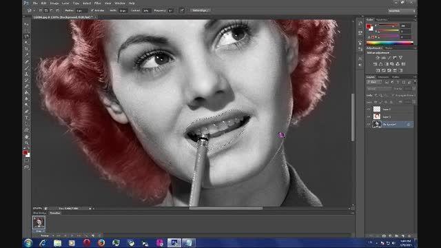 آموزش رنگی کردن عکس های سیاه و سفید(فتوشاپ)