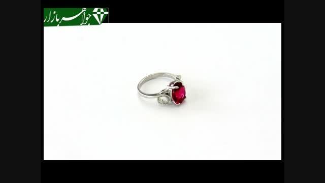انگشتر نقره نگین سرخ طرح دینا زنانه - کد 6874