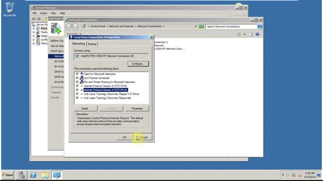 آموزش نصب و تنظیم dhcp server - ویندوز سرور