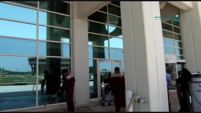دستگاه دیوار شوی و شیشه شور www.ebrahimco.com