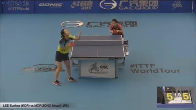 پینگ پنگ : لی هون هی - میساکی (مرحله گروهی)