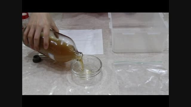 آزمایش سرکه و جوش شیرین و بادشدن پلاستیک
