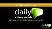 کلمات انگلیسی روزانه اپیسود 3