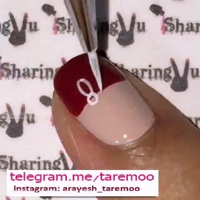 طراحی ناخن و طرح گل ناخن در تار مو