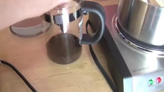ساخت شیر قهوه با قهوه پرس