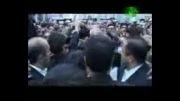 احمدی نژاد / زیارت حرم حضرت معصومه (س)