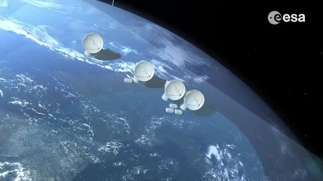 شبکه ارتباطی ماهواره ای سازمان فضایی اروپا