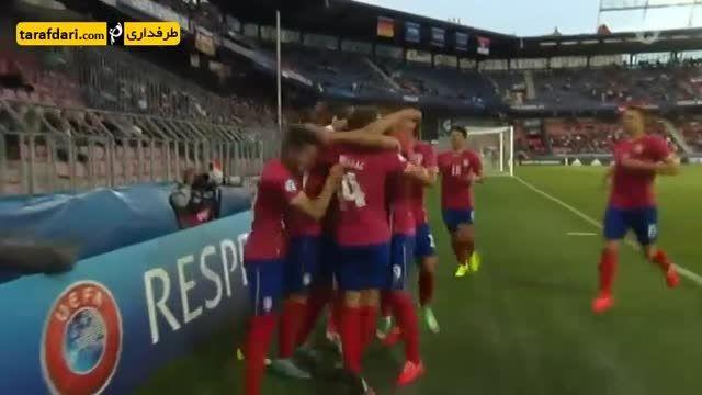 گل های بازی آلمان 1-1 صربستان (یورو زیر 21 سال)