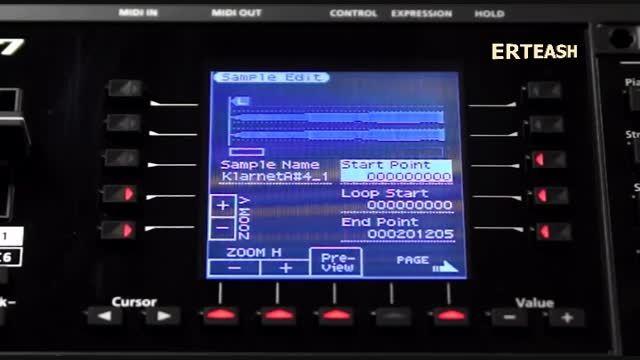معرفی سمپل Roland EA7