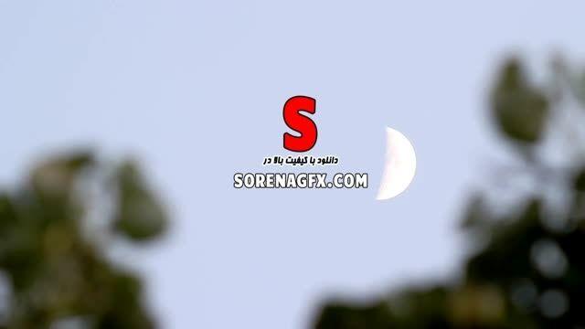 فوتیج بسیار زیبا با كیفیت بالا با موضوع ماه در آسمان