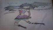 یه نقاشی خوشمل که خودم کشیدم از یه دختر اموemo توضیحات