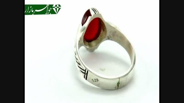 انگشتر عقیق قرمز دست ساز رکاب دست ساز - کد 5330