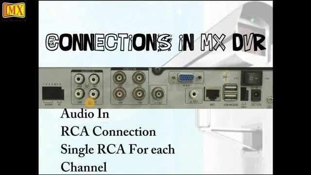 آموزش اتصال دوربین مداربسته به دستگاه دی وی آر