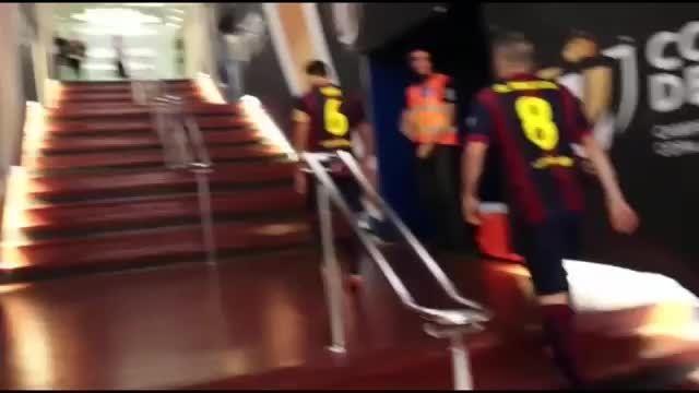جام قهرمانی کوپا دل ری در دستان ژاوی و اینیستا
