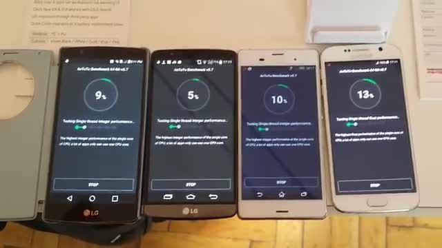 تست Antutu بین LG G4 - LG G3 - Xperia Z3 - Galaxy S6