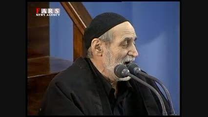 مداحی سید محمود موسوی در محضر آیت الله خامنه ای