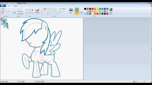 "[MLP] ""Rainbow Dash"" Speedpaint- MS Paint (HD)"