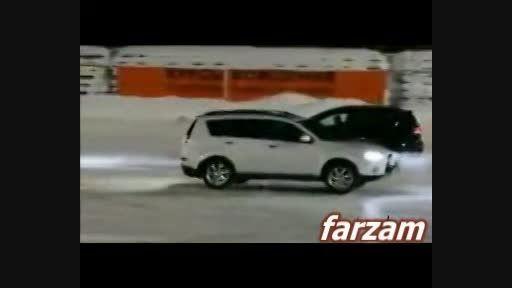 اسکیت روی یخ با ماشین