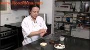 آموزش تزئینات شکلاتی در روزمنو - گل رز شکلاتی