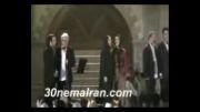اجرای سرود ای ایران توسط بازیگران در چهاردهمین جشن خانه سینمای ایران - به همراه آتش بازی