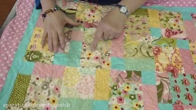آموزش 23 - چهل تکه دوزی بلوک های 9 تایی خانم جینی دوان