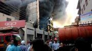 آتش سوزی در کادوس شماره 4 آبادان(بازهم فاجعه ای بزرگ)