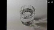 نقاشی لیوان آب سه بعدی