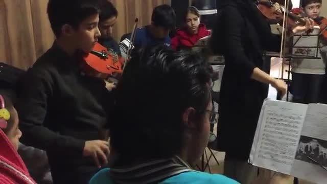 تمرین گروهنوازی گروه نوجوانان هم نواز-سرپرست گروه شیدا