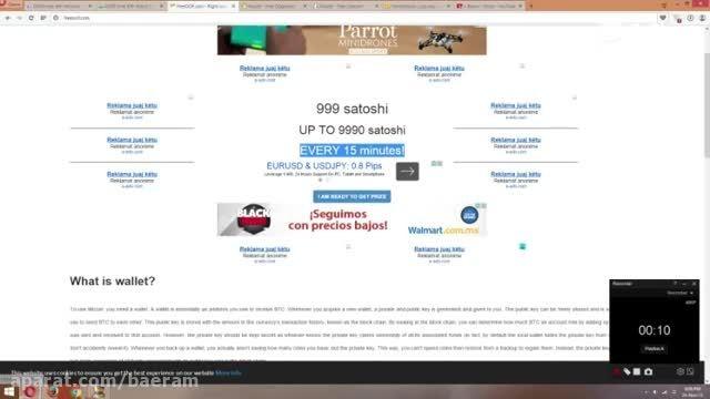 بیشترین بیت کوین در این سایت هر 15 دقیقه 999 ساتوشی