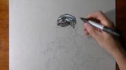 لحظه به لحظه همراه با کشیدن نقاشی سه بعدی شگفت انگیز!