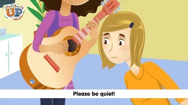 آموزش زبان انگلیسی کودکان Please Be quiet