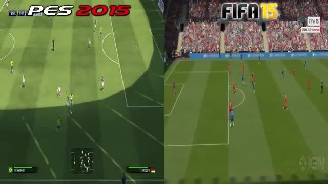 مقایسه ی  pes 2015 و FIFA 15
