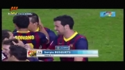 صحنه اهسته گل سوم بارسلونا به رئال سوسیه داد