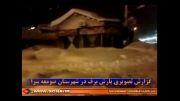 بارش برف در صومعه سرا زمستان 92