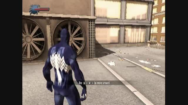 مد spider-man black suit بازی spider-man 2001ساخت خودم