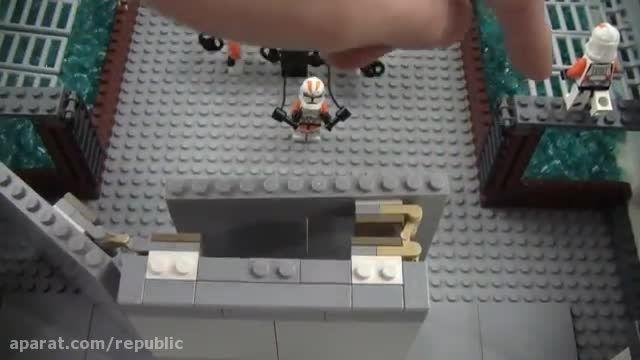 سازه ی زیبا ای از لگو جنگ ستارگان مرکز تمرین کلون ها
