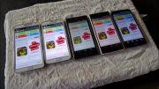 تست صفحه نمایش Xperia Z2 , Galaxy S5 , Note 3 , G2 , Z1