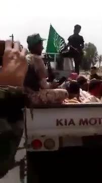 اسارت 30 داعشی بدست نیروهای بسیج مردمی