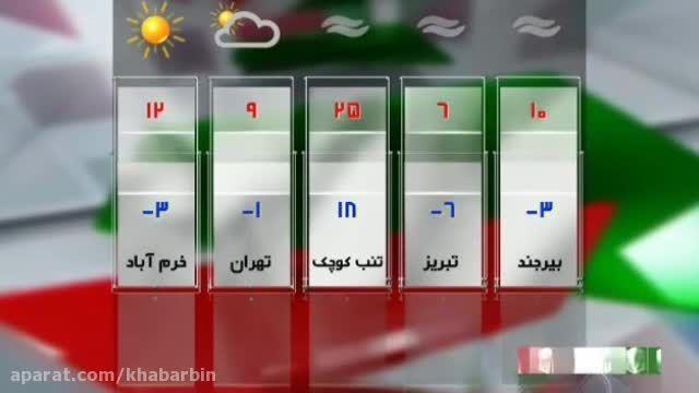 وضعیت آب و هوا (18 آذر 94)