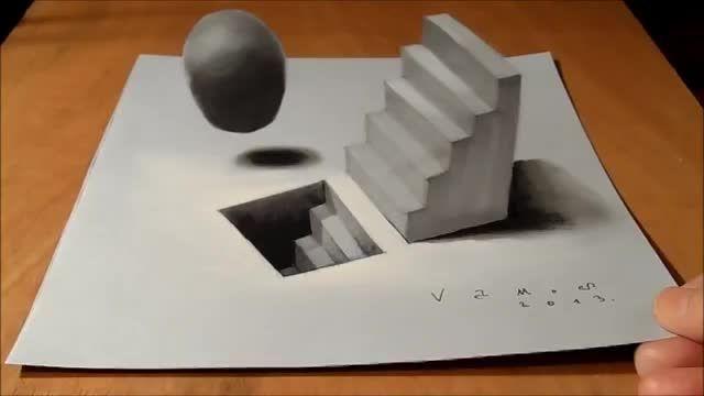 آموزش تکنیک های نقاشی سه بعدی