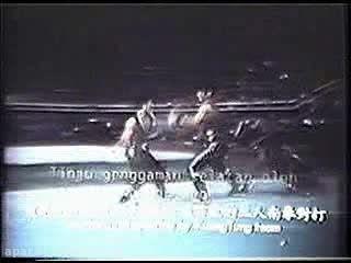 ووشو؛ اجرای مبارزه سنتی سه نفره، دهه 80 میلادی
