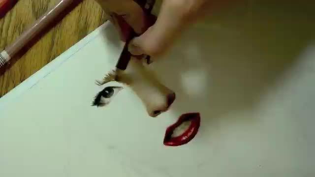 نقاشی حرفه ای از لیدی گاگا