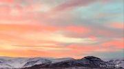 آسمان و طبیعت زیبا به همراه موسیقی دلنشین