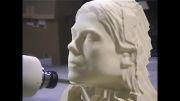 ایجاد سر مجسمه زن توسط سی ان سی سنگ LaserSwan.net