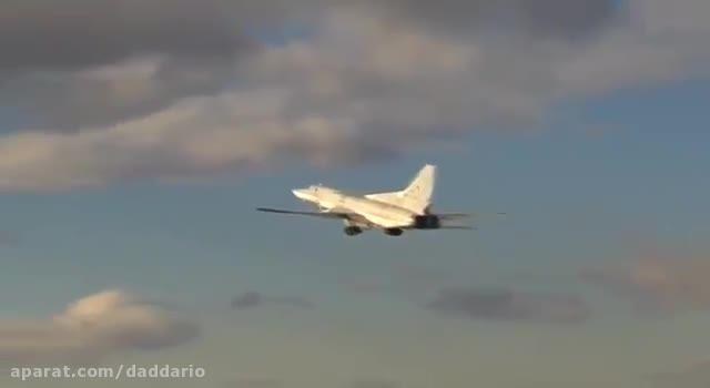 حمله جنگنده بمب افکن Tu-22M3 روسیه به داعش در سوریه