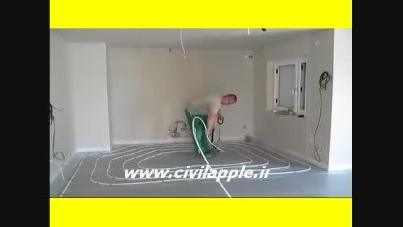 اجرای لوله های گرمایش از کف